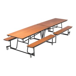 Mobile Bench Cafeteria Table