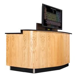 VersaCurve w/ TV Mount, Three Drawer (One File) Cabinet and Door Cabinet