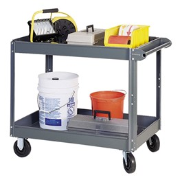 Steel Service Cart w/ 2 Shelves