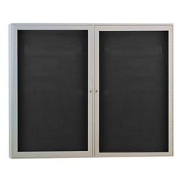 Indoor Enclosed Letter Board w/ Two Doors & Satin Aluminum Frame