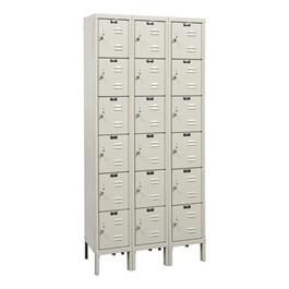 Corrosion-Resistant Three-Wide Six-Tier Lockers