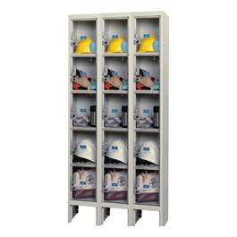 """Clear-View Plus Three-Wide Five-Tier Lockers (12\"""" H Openings)"""