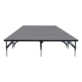 """101 Series Stage System Package w/ Industrial Deck (16\' L x 8\' D x 24\"""" or 32\"""" H)"""