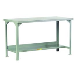 Welded Steel Workbench w/ Shelf
