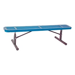 Heavy-Duty Park Bench w/o Back - Round Perforations - Portable (8\' L)