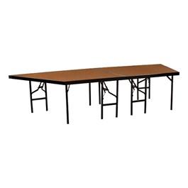 "Pie-Shaped Riser Unit w/ Hardboard Deck (4\' D x 24\"" H)"