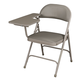 6600 Series Heavy-Duty, Vinyl-Padded Folding Chair w/ Tablet Arm - Right Handed
