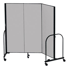 """4\' H Freestanding Portable Partition - Three Panels (5\' 9\"""" L)"""