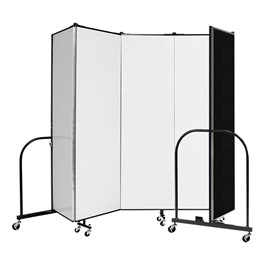 "6\' H Wet Erase Tackable Portable Partition - Five Panels (9\' 5"" L)"