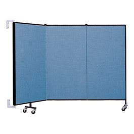 4\' H Wall-Mount Partition - Three Panels