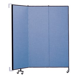 """6\' 8\"""" H Wall-Mount Partition - Three Panels"""