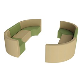 """Shapes Vinyl Structured Soft Seating - Double U-Shape 12\"""" H (Earth Tone Colors)"""