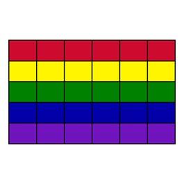 "Classroom Squares Seating Rug - Bright (7\' 6\"" W x 12\' L)"